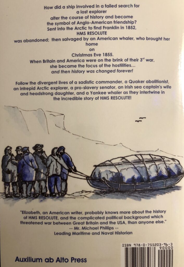 Original artwork of Kim Orde Matthews of HMS Resolute's men setting off on a sledging trip to search for Sir John Franklin in 1852