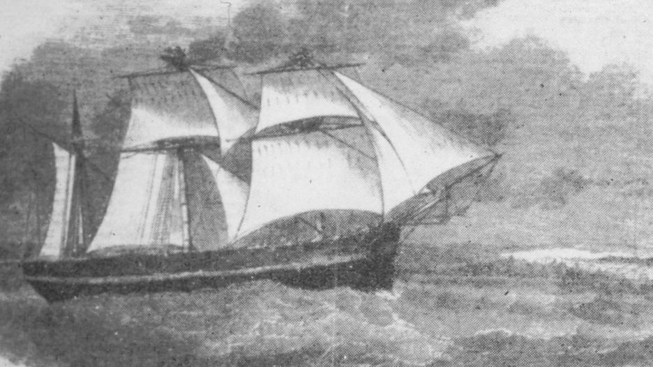 HMS Resolute arriving in New London Connecticut on Christmas Eve 1855 with Captain James Munroe Buddington in charge, a whaling captain working for the New London whaling firm Perkins and Smith